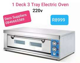 1 Deck 3 Tray Baking Ovens Electric 220V