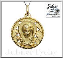 Złoty wisiorek – medalik złota przywieszka Jubiler Tychy złoto 585 14K