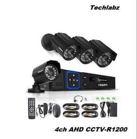 CCTV Security Camera System- 4CH 2MP NVR Audio Recording Night Vision