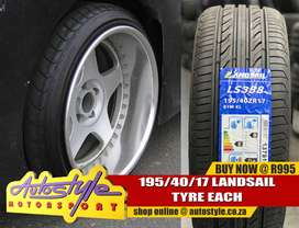 Tyres for stretch look  now available.  195 40 seventeen 17e