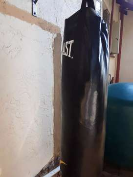 Boxing bag with bracket