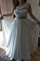 Suknia ślubna koronkowa retro boho