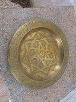 подвесная тарелка латунная