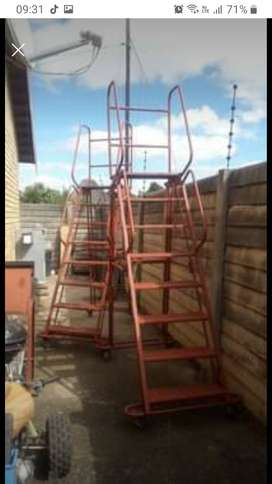 Mobile Step Ladders x 2