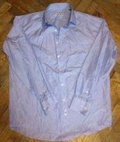 Рубашка, блузка, мужская, голубая, в полоску