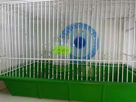 Green hamster cage