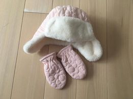Komplet czapka + rękawiczki F&F roz 74/80