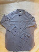 Bawełniana koszula tunika H&M HM w paski marynarska 44