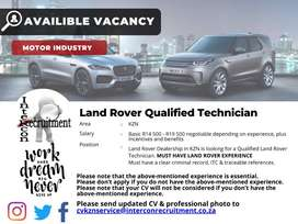Land Rover Qualified Technician - KZN