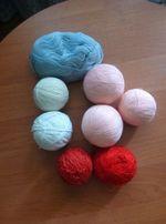 Нитки шерстяные различные для вязания