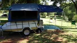 JURGENS CAMP LITE TRAILER WHITH TENT
