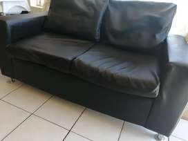 Hardly used leather couch for sale