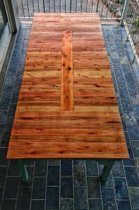 10 Person Table made out of recycled pallets