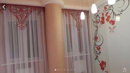 Ламбрекен ламбрикен ажурный штора тюль кружевной красный Valentino