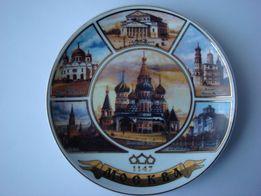 Декоративная тарелка Москва.