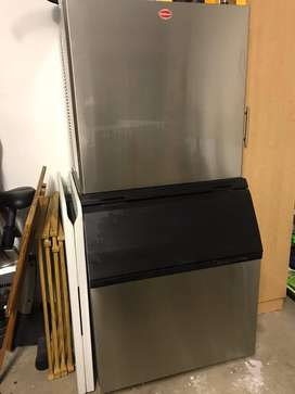 Snomaster Ice Machine with chest freezers and other