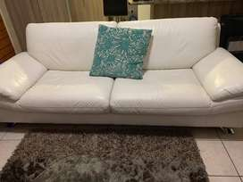 Genuine 2 seater leather couch