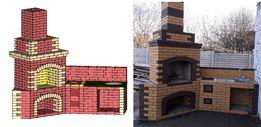 Разработка и продажа проектов печей, каминов, мангалов и барбекю.