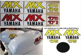 1979 Yamaha MX 175 decals stickers kits