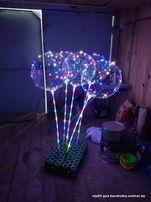 Воздушный светящийся прозрачный шарик c подсветкой Led Bobo-balloons