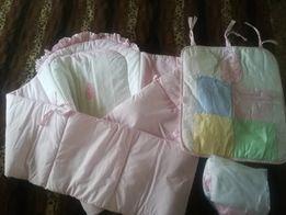 Защита на кроватку + балдахин для девочки