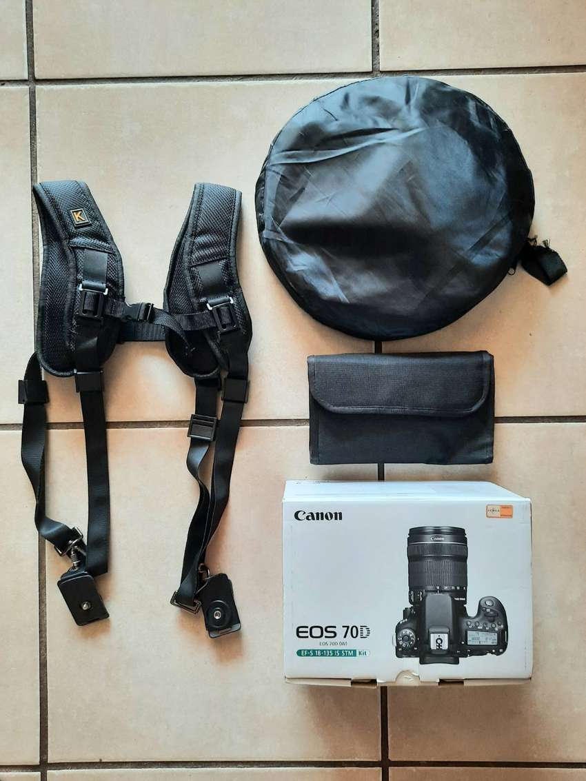 Canon EOS 70D camera with video + extras