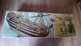 H.M.S VICTORY 1/90 SCALE WOODEN SHIP