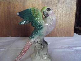 2 Фарфоровые статуэтки попугай Германия