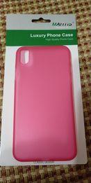 Чехол матовый красный для Apple iPhone X 10