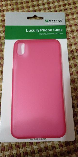 Чехол матовый красный для Apple iPhone X 10 Хуст - изображение 1
