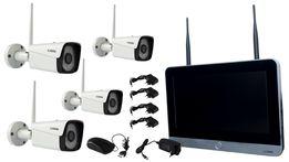 Zestaw Monitoring Bezprzewodowy IP 2MPx FullHD z IR do 25m + Monitor