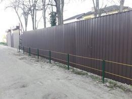 Забор из профнастила под ключ, сетки , ВОРОТА КАЛИТКА в Одессе и обл