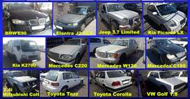Vehicles stripping for spares.