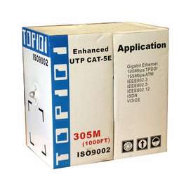 TOP101 Cat5e UTP Flexible Network Cable In 305M Pull Box.