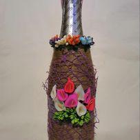 Бутылка ручная работа подарок новогодний свадебный