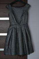 Piękna czarno-srebrna sukienka