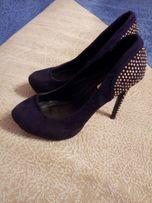 Туфлі жіночі, 39 розмір, еко замш