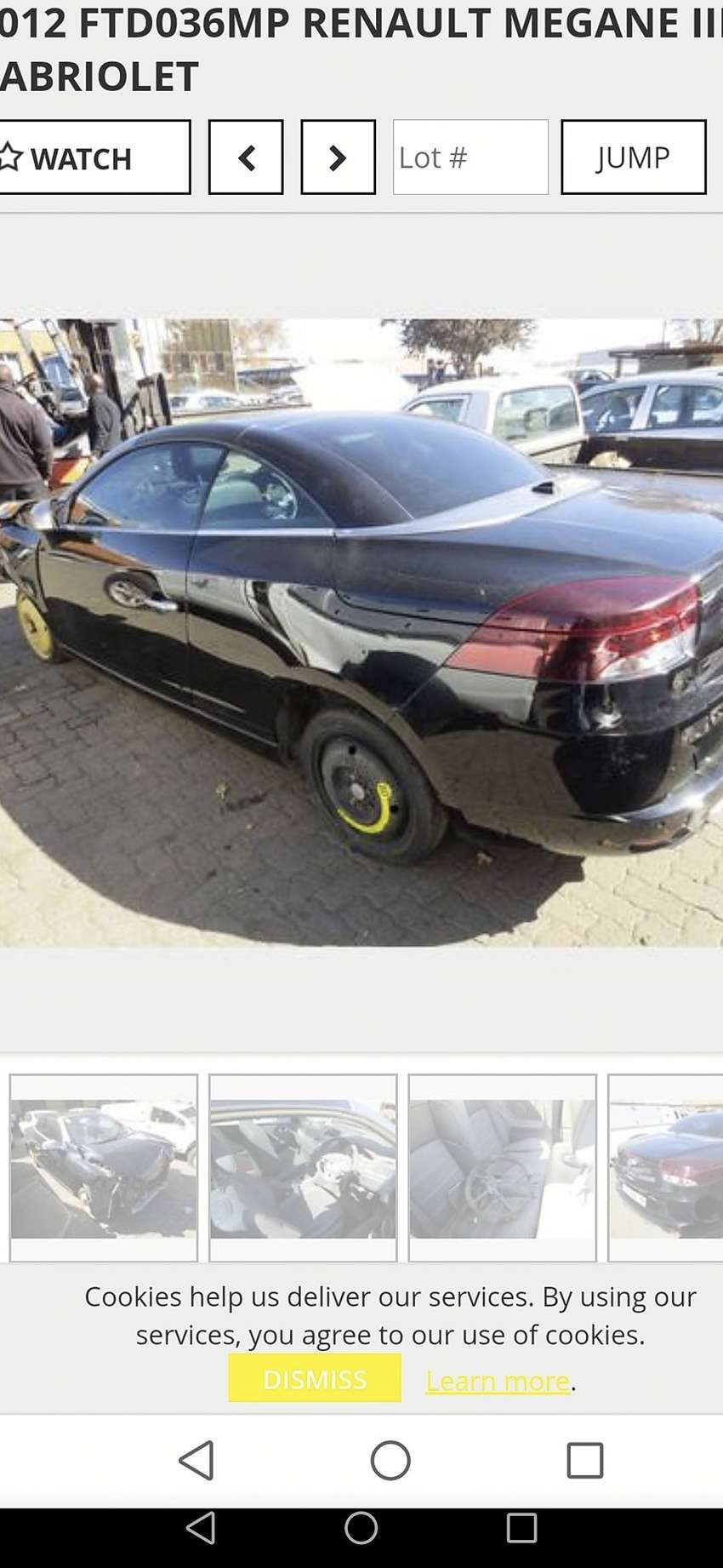 We are breaking up a 2012 Renault Megane III 1.4 GT Line Cabriolet 0