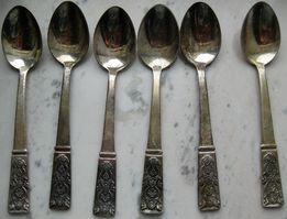 Мельхиоровые чайные ложки 1958 г.