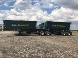 4* 45 cube side tipper trailer links for sale