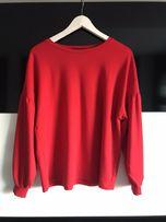 Czerwona bluzka szerokie rękawy M 38 Reserved Yfl modna