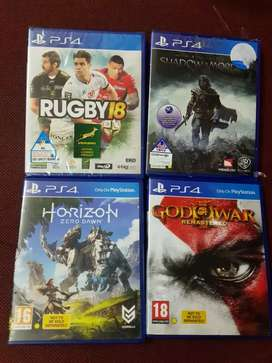 Ps4   games    each  249 and  all R 799