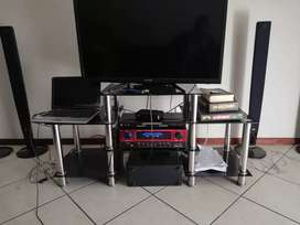 Tv stand with a home theatre