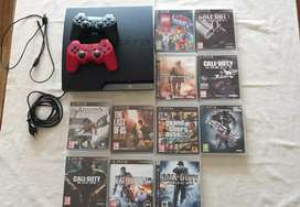 PS3, 2 Controllers, 11 Games
