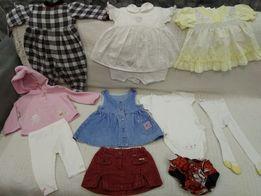 Пакет одежды на девочку до года. Платье, бодики, юбка, лосинки, колгот