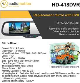 REPLACEMENT MIRROR WITH DVR ( DESH CAMERA )