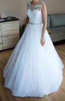 rozm. 34 Piękna Suknia Ślubna!!
