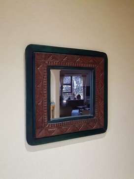 African Style wood mirror
