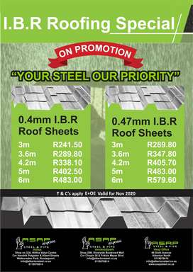 ASAP IBR Roofing Special
