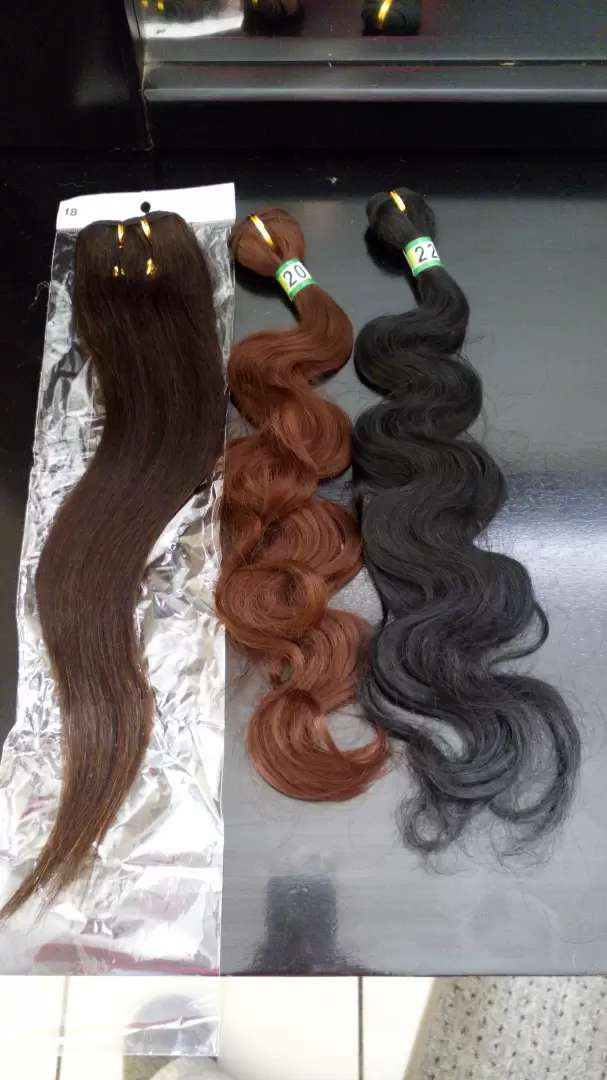 Human hair extensions - weave in 0